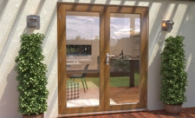 Climadoor Solid Oak French Doors 1800mm Image
