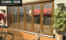 Elite Oak Folding Doors - Climadoor Image