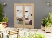Elite Oak Un-finished French Doors - Climadoor Image