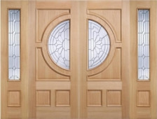 Empress Oak Grand Entrance With Sidelights. Image