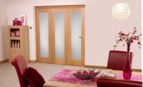 Frosted Glazed Oak - 3 Door Roomfold (1800mm - 6ft Set) Image