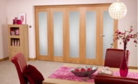 Frosted Glazed Oak - 5 Door Roomfold (5 X 2