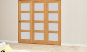 Frosted Prefinished 4l Roomfold Deluxe (3 X 610mm Doors) Image