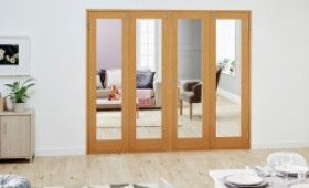 Glazed Oak - 4 Door Frenchfold 8ft (2374mm) Set Image