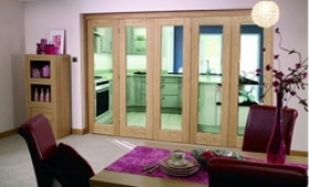 Glazed Oak - 5 Door Roomfold (5 X 2