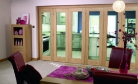 Glazed Oak Prefinished 6 Door Roomfold (5+1 X 2