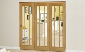 Lincoln Oak 3 Door Roomfold Deluxe (3 X 610mm Doors) Image