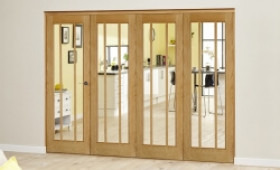 Lincoln Oak 4 Door Roomfold Deluxe (4 X 686mm Doors) Image