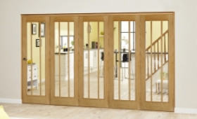 Lincoln Oak 5 Door Roomfold Deluxe (5 X 762mm Doors) Image