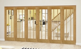 Lincoln Oak 6 Door Roomfold Deluxe (3 + 3 X 686mm Doors) Image