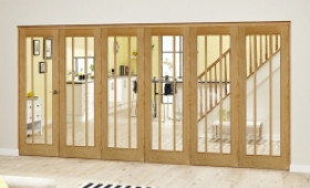 Lincoln Oak 6 Door Roomfold Deluxe (5 + 1 X 686mm Doors) Image