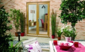 LPD Nuvu 1500mm (5ft) Oak French Doors Image