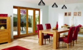 LPD Nuvu 2100mm (7ft) Oak French Doors With Sidelights Image