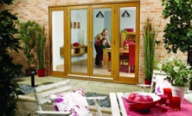 LPD Nuvu 2400mm (8ft) Oak French Doors With Sidelights Image