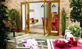 LPD Nuvu 2700mm (9ft) Oak French Doors With Sidelights Image
