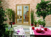 Oak French Doors - 8 Lite Image