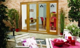 LPD Nuvu Oak 2400mm (8ft) Patio Doors With Sidelights Image