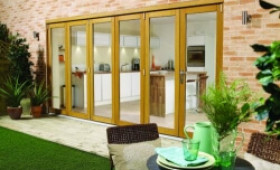 LPD Nuvu Oak Folding Patio Doors - Prefinished Image