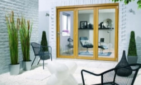 LPD Nuvu Oak Folding Patio Doors - Unfinished Image