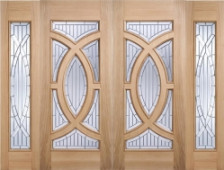 Majestic Oak Grand Entrance With Sidelights. Image