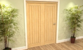 Mexicano Oak 2 Door Roomfold Grande (2 + 0 X 762mm Doors) Image