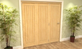Mexicano Oak 3 Door Roomfold Grande (3 + 0 X 610mm Doors) Image
