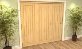 Mexicano Oak 3 Door Roomfold Grande (3 + 0 X 762mm Doors) Image