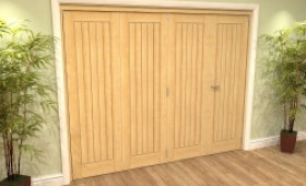 Mexicano Oak 4 Door Roomfold Grande (3 + 1 X 610mm Doors) Image