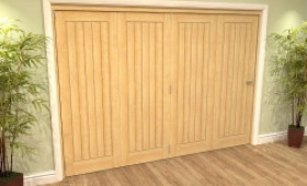 Mexicano Oak 4 Door Roomfold Grande (4 + 0 X 686mm Doors) Image