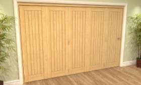 Mexicano Oak 5 Door Roomfold Grande (5 + 0 X 686mm Doors) Image