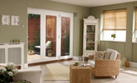 Nuvu 2100mm (7ft) White Folding Patio Door Image