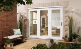 Nuvu 2400mm (8ft) White Folding Patio Door Image