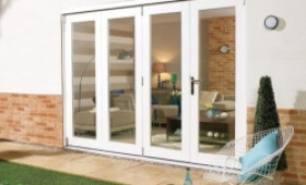 Nuvu 3000mm (10ft) White Folding Patio Door Image