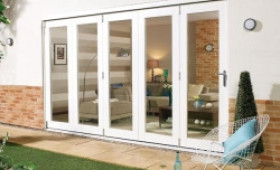 Nuvu 3600mm (12ft) White Folding Patio Door Image