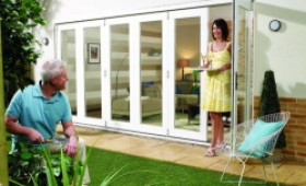Nuvu 4200mm (14ft) White Folding Patio Door Image