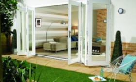 Nuvu 4800mm (16ft) White Folding Patio Door Image