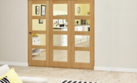 Oak 4l - 3 Door Roomfold Deluxe (3 X 533mm Doors) Image