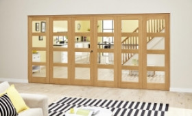 Oak Prefinished 4l Roomfold Deluxe (3 + 3 X 686mm Doors) Image