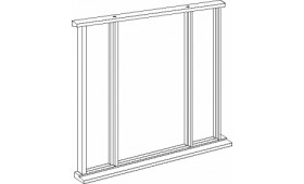 Universal Oak Vestibule Frame - Single Leaf Up To 84 X 36 Image