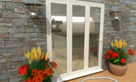 Part Q 1800mm White Aluminium Bifold Doors - Climadoor Image