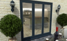 Part Q 2100mm Grey Aluminium Bifold Doors - Climadoor Image