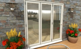 Part Q 2100mm White Aluminium Bifold Doors - Climadoor Image