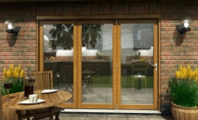 Part Q Solid Oak Bifold Door 2700mm (9ft)  Image