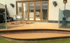 Part Q Solid Oak Bifold Door 3600mm (12ft)  Image
