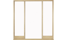 Universal Oak Vestibule Frame For Direct Glazing Image