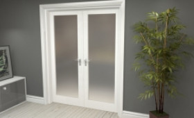 """Obscure White French Door Set  - 30"""" Pair Image"""