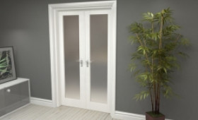 """Obscure White French Door Set  - 22.5"""" Pair Image"""