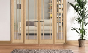 W8 Lincoln Oak Internal Room Divider Set With Sidelights Image