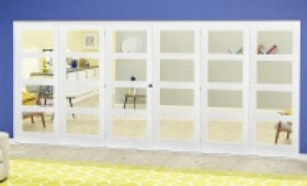White 4l Roomfold Deluxe ( 3 + 3 X 686mm Doors ) Image