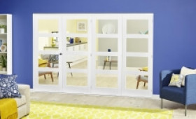 White 4l Roomfold Deluxe ( 4 X 686mm Doors ) Image